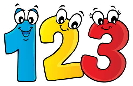Cartoon numbers theme image 1 - eps10 vector illustration.