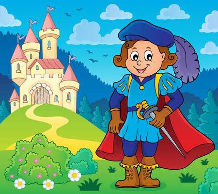 Illustration de thème d'image de thème de prince.