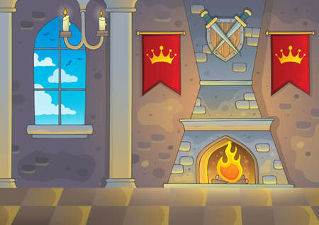 Castle interior theme background