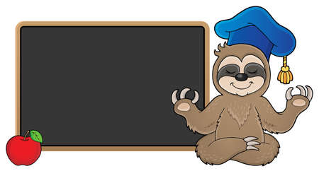 Sloth teacher  vector illustration.