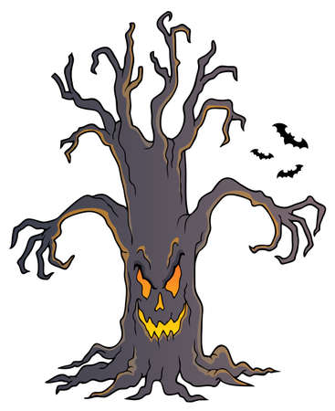 Spooky tree topic image vector illustration. 向量圖像