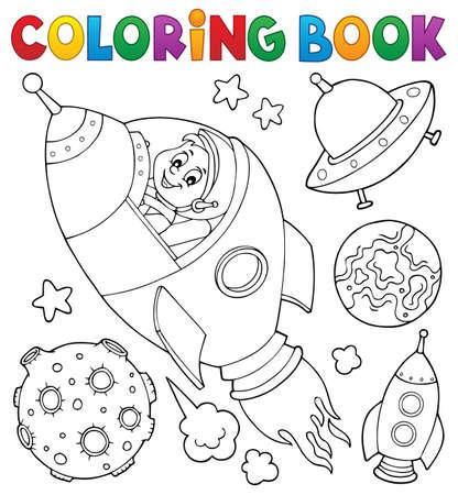 Illustration vectorielle de l'espace livre à colorier.