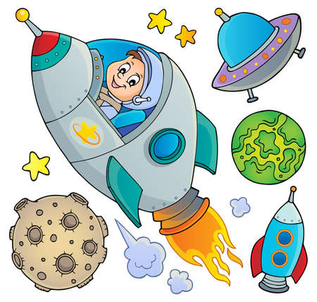 Space topic collection vector illustration.