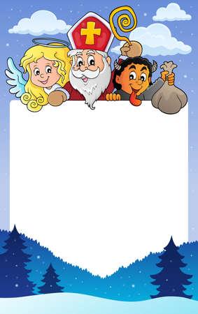 Saint Nicholas Day topic frame 1 - eps10 vector illustration.