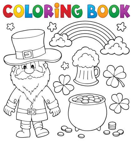 Libro da colorare St Patricks Day set 1 - eps10 illustrazione vettoriale. Vettoriali