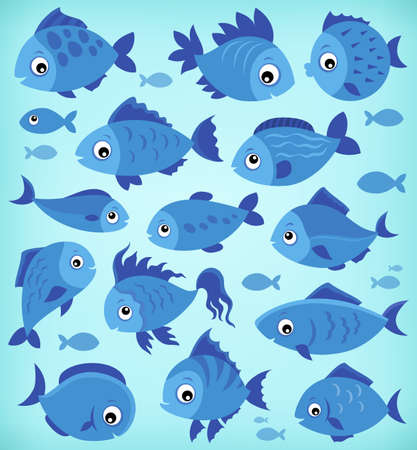 Stylized fishes topic image