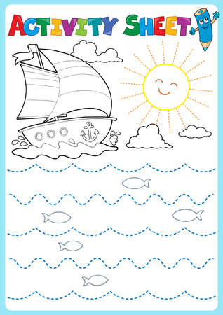 Activity sheet topic image 2 - eps10 vector illustration. 일러스트