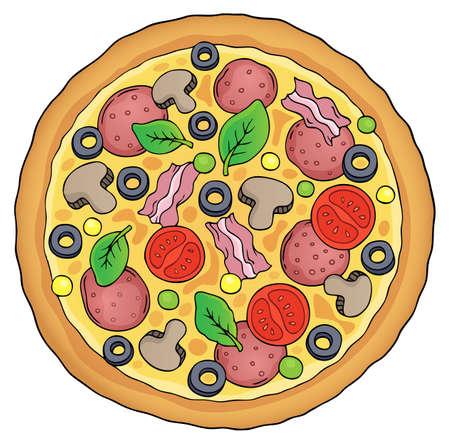 Whole pizza theme image