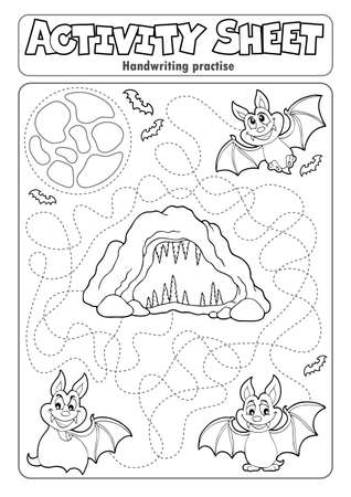 Activity sheet handwriting Ilustracja