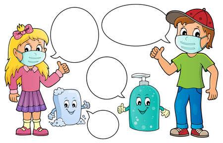 Virus prevention theme set 2 - eps10 vector illustration. Vecteurs
