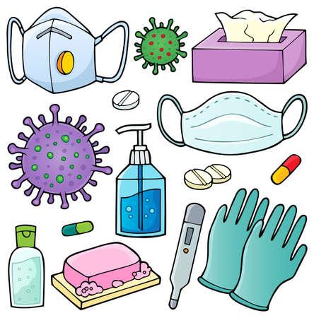 Virus prevention theme set