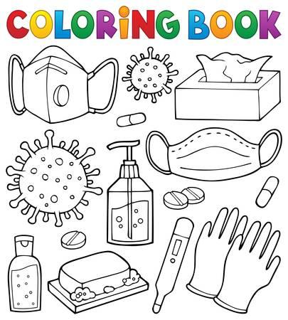Coloring book virus prevention set