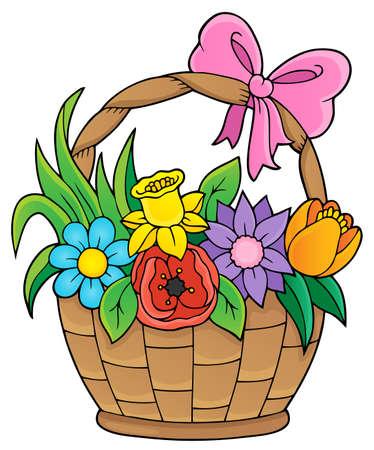 Flower basket theme image