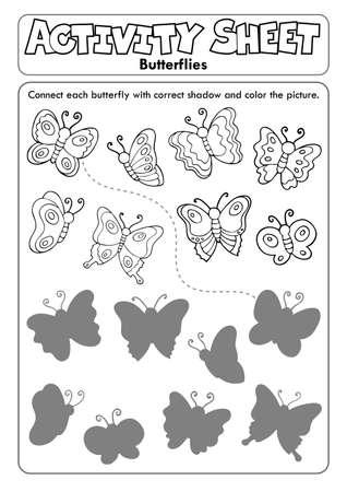 Activity sheet butterflies