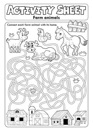 Activity sheet farm animals