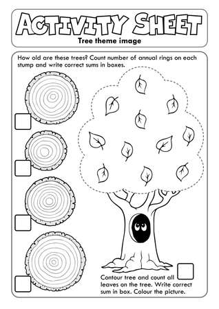 Activity sheet tree theme