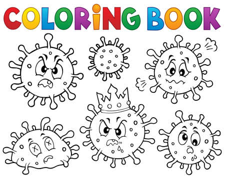 Coloring book viruses set