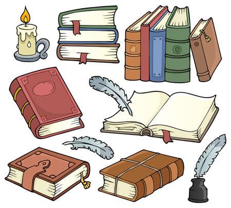 Old books theme set Ilustrace