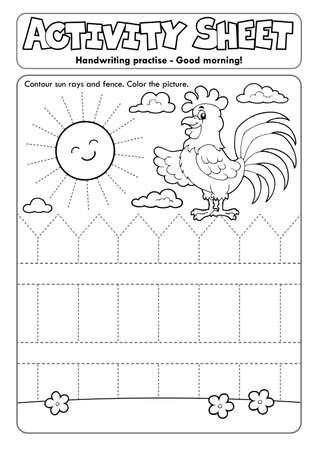 Activity sheet handwriting Ilustrace