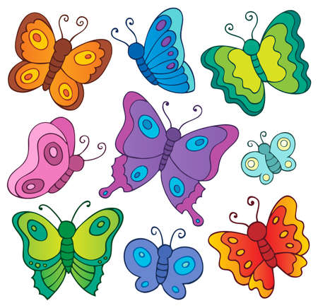 Various butterflies theme set 1 - eps10 vector illustration. Ilustrace