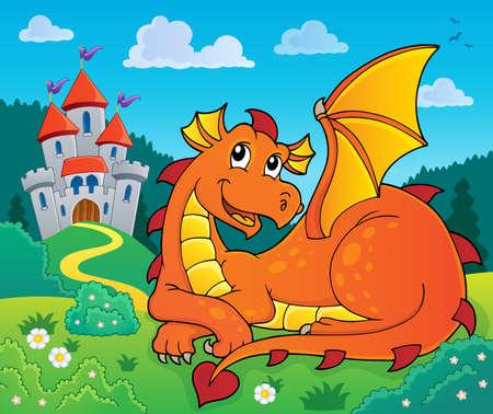 Lying dragon theme
