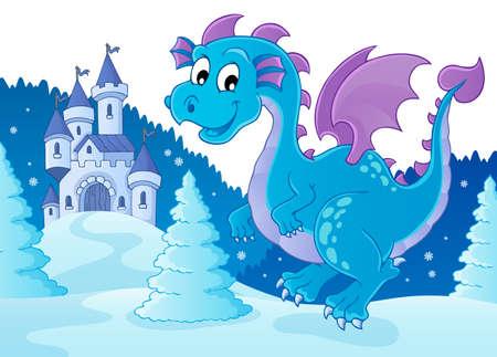 Winter dragon theme
