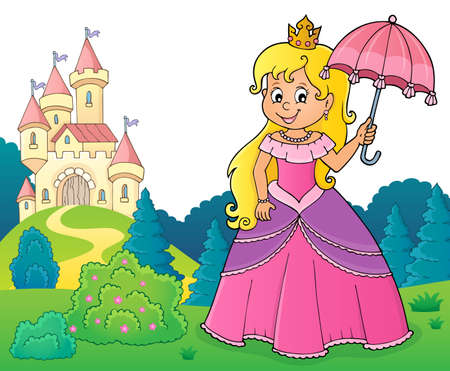 Princess with umbrella theme