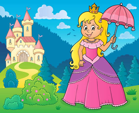 Princess with umbrella theme