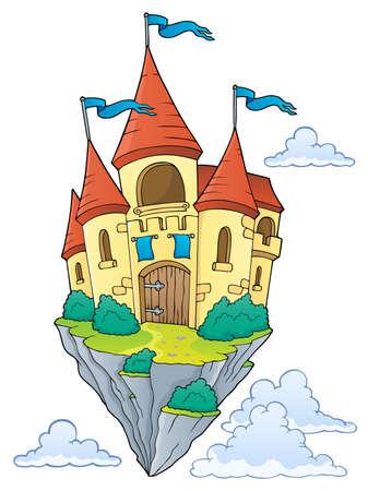 Flying castle theme Ilustrace
