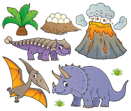 Dinosaur topic set Illustration