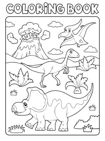 Coloring book dinosaur