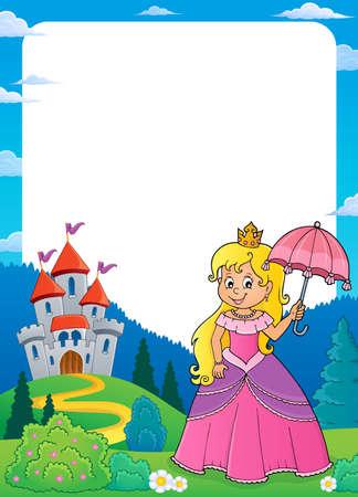 Princess with umbrella