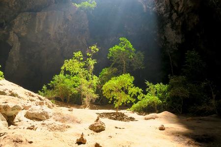 Light entering through an opening in the Phraya Nakhon cave, Thailand Stock Photo