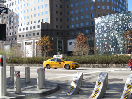 taking a lonely taxi newyork Stock Photo