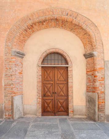 saluzzo: old port in the historic center of Saluzzo