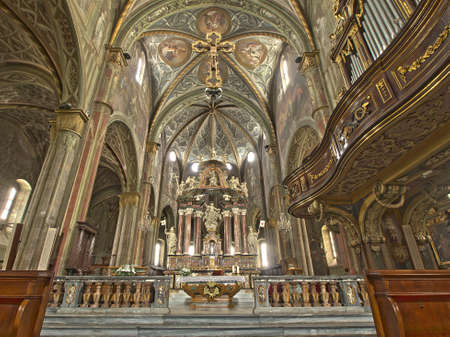 priest's ritual robes: altar of the cathedral of Saluzzo