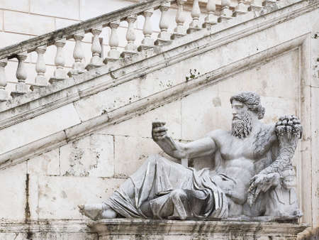 allegory: Ancient Roman allegory of Nile River. Campidoglio, Rome, Italy