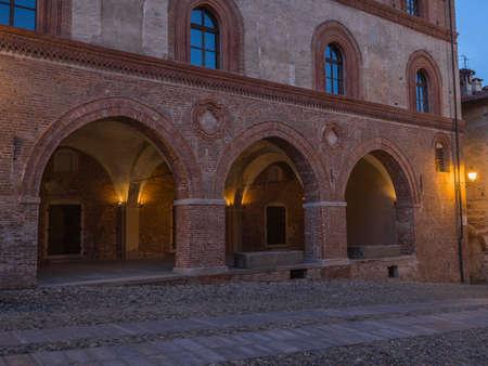 saluzzo: old town hall in the historic center of Saluzzo Stock Photo