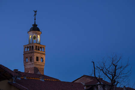 saluzzo: Ancient communal tower of Saluzzo, medieval town of Piedmont