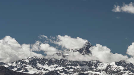 saluzzo: The Monviso, known as the stone king photographed by Saluzzo in Piedmont