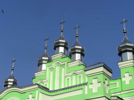 beatitude: Domes of church in the sky