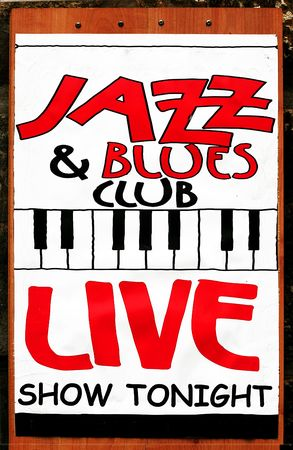 tonight: Jazz and Blues Stock Photo
