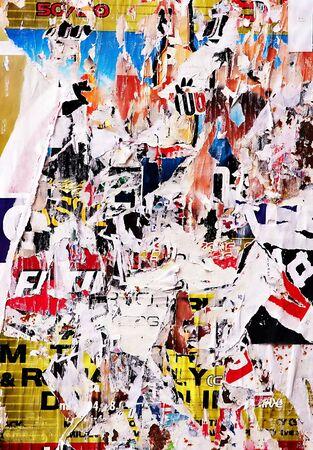 pay cuts: Broken posters - Street art -