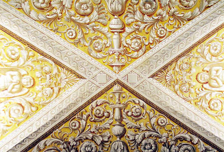 Painted antique ceiling