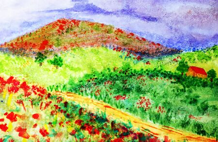 landscaes - watercolor by the photographer - Stock Photo - 208524
