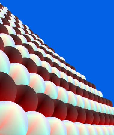 computerized: Balls & blue sky Stock Photo