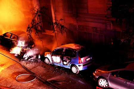 Fire - Burning cars - Emergency -