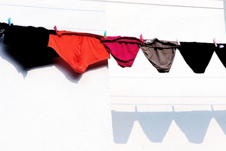 Underpants under the sun Stock Photo