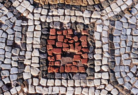 macedonia: Ancient mosaic pattern - Heraklea, Macedonia, Europe