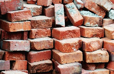 Bricks waiting to be used*** photo